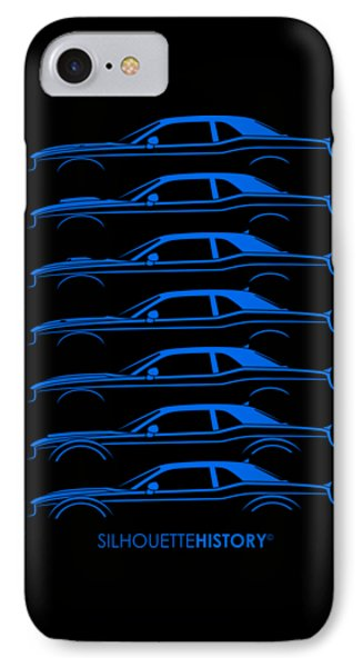 Modern Muscle Pony Silhouettehistory IPhone Case