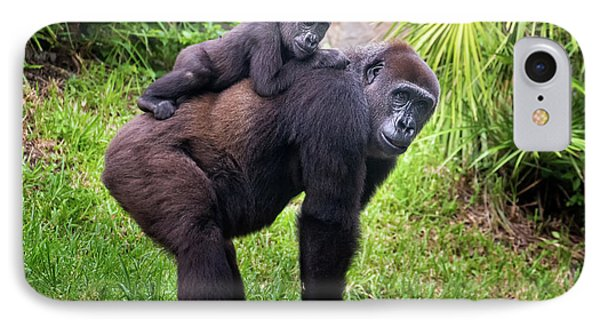 Mom And Baby Gorilla IPhone Case