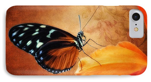 Orchid iPhone 8 Case - Monarch Butterfly On An Orchid Petal by Tom Mc Nemar