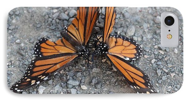 Monarch Love Means Not Getting Squished  IPhone Case