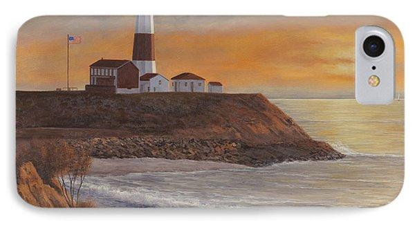 Monntauk Lighthouse Sunset IPhone Case