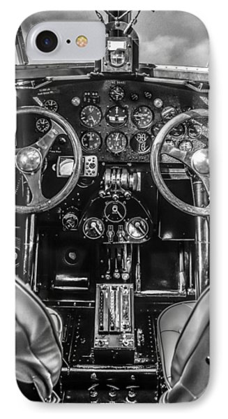 Monochrome Cockpit IPhone Case