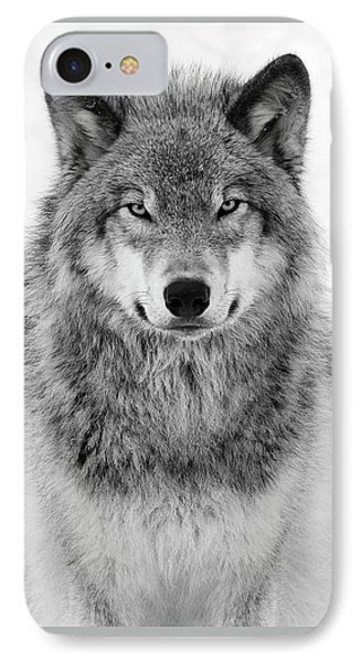 Monotone Timber Wolf  IPhone Case