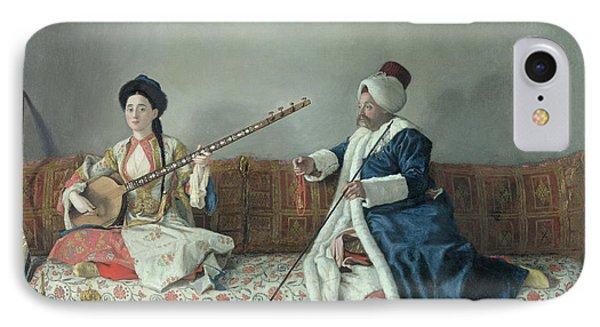 Monsieur Levett And Mademoiselle Helene Glavany In Turkish Costumes IPhone Case