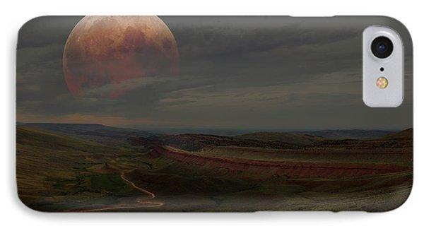 Montana Landscape On Blood Moon IPhone Case