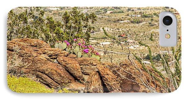 Montezuma Rd Cliff Side Flower Garden IPhone Case