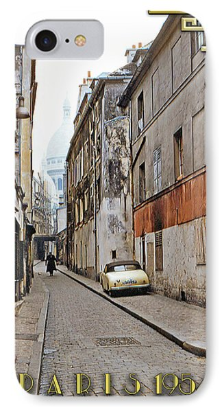 IPhone Case featuring the photograph Montmartre - Titled by Chuck Staley