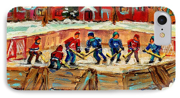Montreal Hockey Rinks Urban Scene IPhone Case