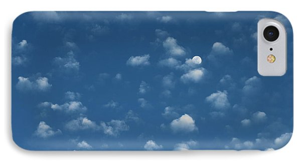 Moon In The Morning Sky IPhone Case
