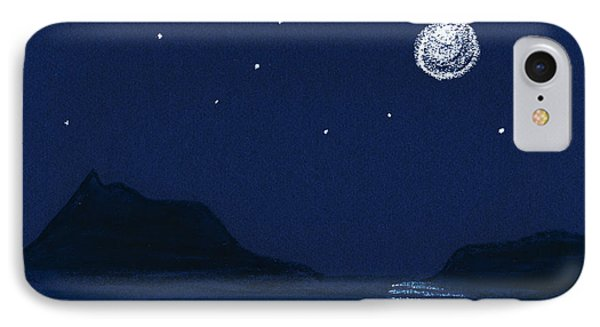 Moon On The Ocean IPhone Case