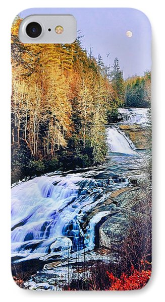 Moon Over Triple Falls IPhone Case