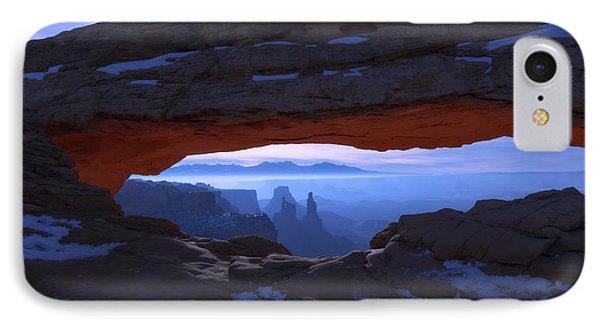Desert iPhone 8 Case - Moonlit Mesa by Chad Dutson