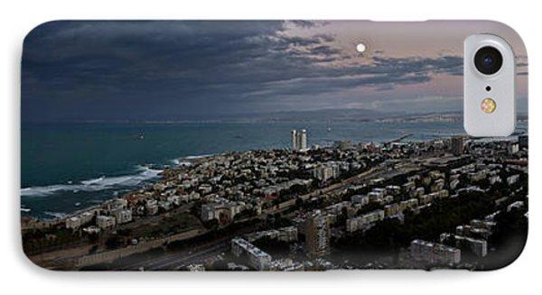 Moonrise Over Haifa Bay IPhone Case