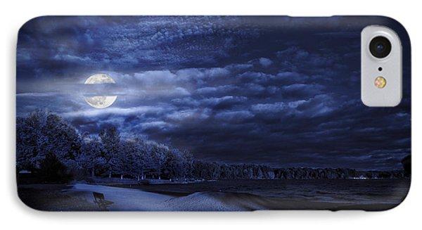 Moonrise Over Pymatuning Lake IPhone Case