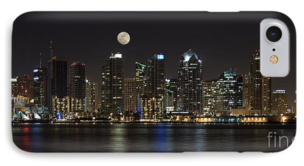 Moonrise Over San Diego IPhone Case