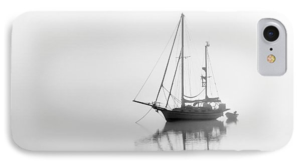 Moored On A Foggy Day IPhone Case