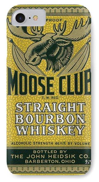 Moose Club Bourbon Label IPhone Case