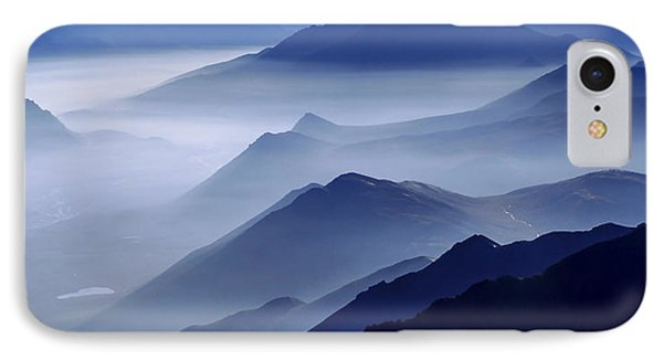 Mountain iPhone 8 Case - Morning Mist by Chad Dutson