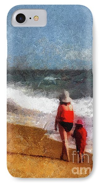 Morning Walk Along The Beach IPhone Case