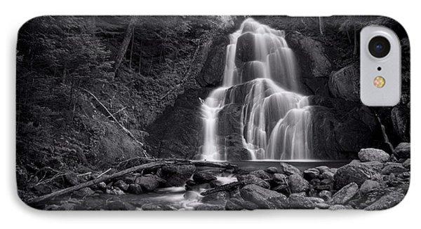 Beautiful Nature iPhone 8 Case - Moss Glen Falls - Monochrome by Stephen Stookey