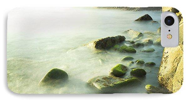 Mossy Rocks On Shoreline IPhone Case