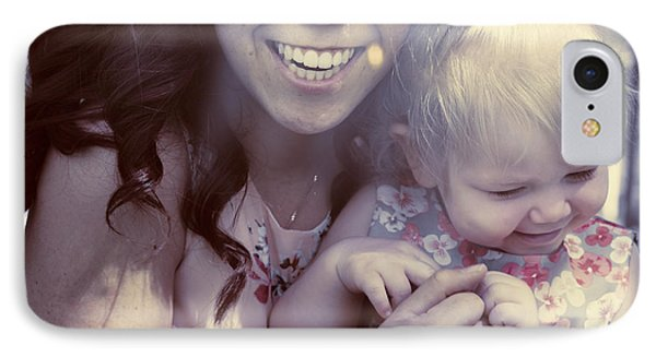 Mother And Daughter Laughing Together Outdoors IPhone Case