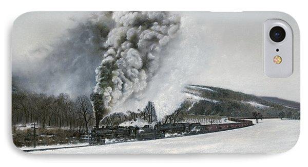 Train iPhone 8 Case - Mount Carmel Eruption by David Mittner
