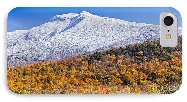Mount Mansfield Seasonal Transition IPhone Case
