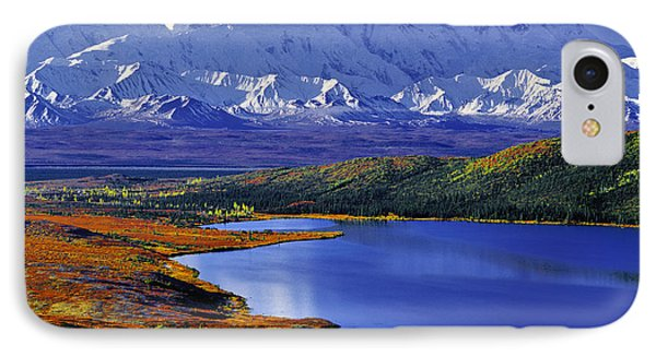 Mount Mckinley And Wonder Lake Campground In The Fall IPhone Case