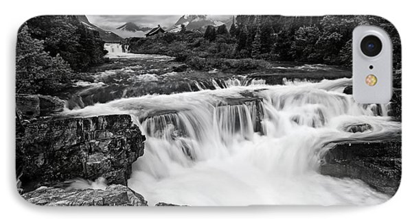 Mountain Paradise In Black And White IPhone Case