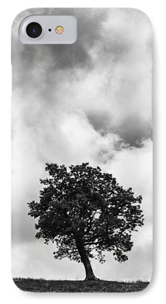 Tree On Hill - Doughton Park Blue Ridge Parkway IPhone Case