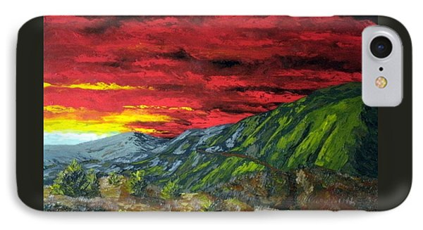 Mountain Trail Sunrise IPhone Case