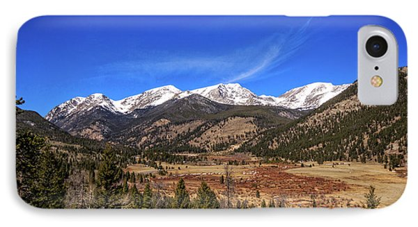 Mountain View From Fall River Road In Rocky Mountain National Pa IPhone Case