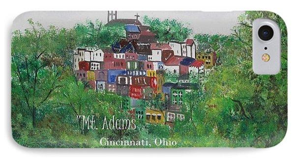 Mt Adams Cincinnati Ohio With Title IPhone Case