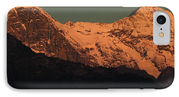 Mt. Eiger And Mt. Moench At Sunset IPhone Case