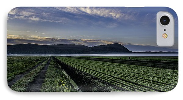Dawn And Fog Over The Farmland IPhone Case