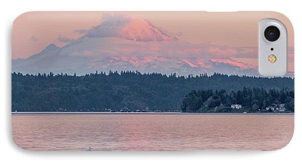 Mt. Rainier At Sunset IPhone Case