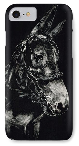 Mule Polly In Black And White IPhone Case