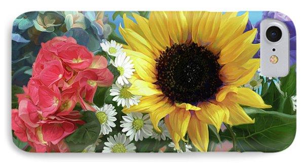 Daisy iPhone 8 Case - Multicolor Flowers by Lucie Bilodeau