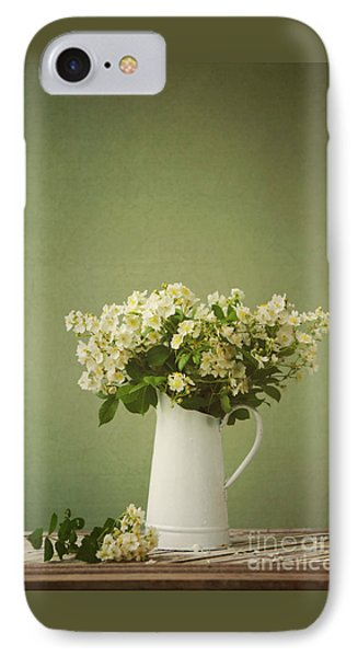 Multiflora Rose In A Rustic Vase IPhone Case