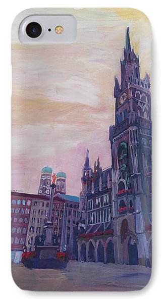 Munich City Hall And St Marys Place IPhone Case