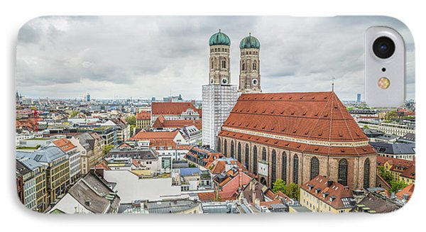 Munich Cityscape From City Hall IPhone Case