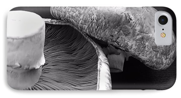 Mushrooms In Black And White IPhone Case