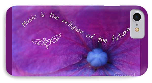 Music Is The Religion Of The Future IPhone Case