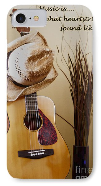 Music Is What Heartstrings Sound Like  IPhone Case