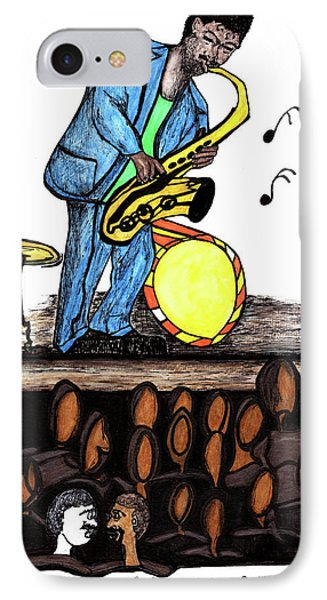 Music Man Cartoon IPhone Case