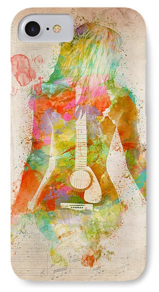 Rock And Roll iPhone 8 Case - Music Was My First Love by Nikki Marie Smith