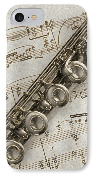 My Flute Photo Sketch IPhone Case