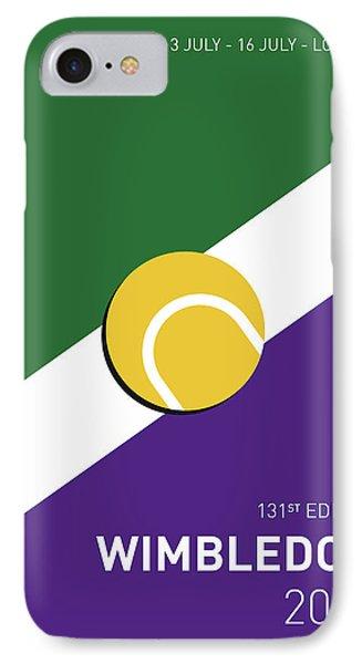 My Grand Slam 03 Wimbeldon Open 2017 Minimal Poster IPhone Case