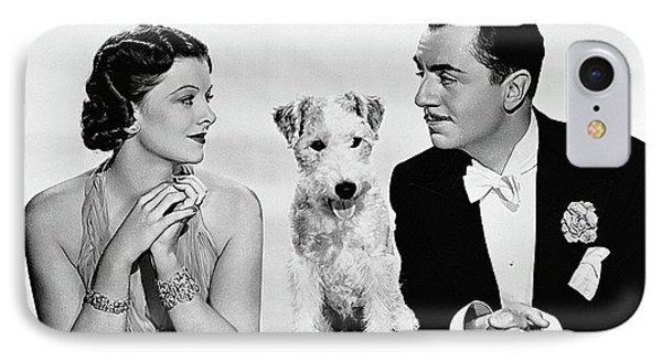Myrna Loy Asta William Powell Publicity Photo The Thin Man 1936 IPhone Case
